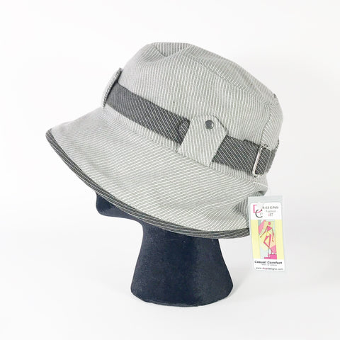 Sport Organic Hat, Light Grey with Charcoal Grey Accent
