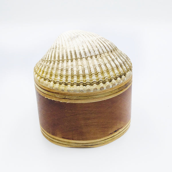 Cockle Shell Wood Ring Box