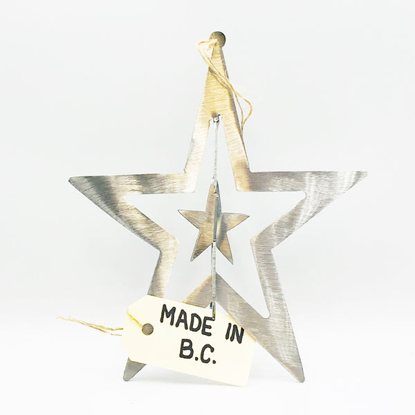 3D Steel Hanging Star 7 1/2 inches