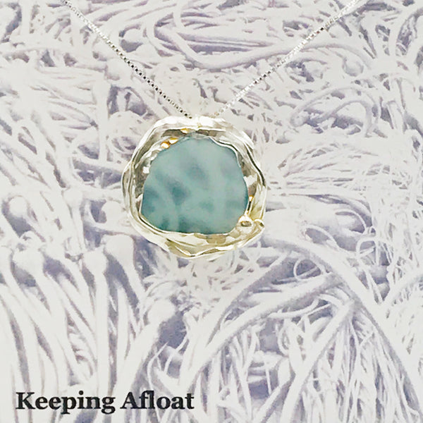 Fishing Float Kelp Round Pendant Necklace