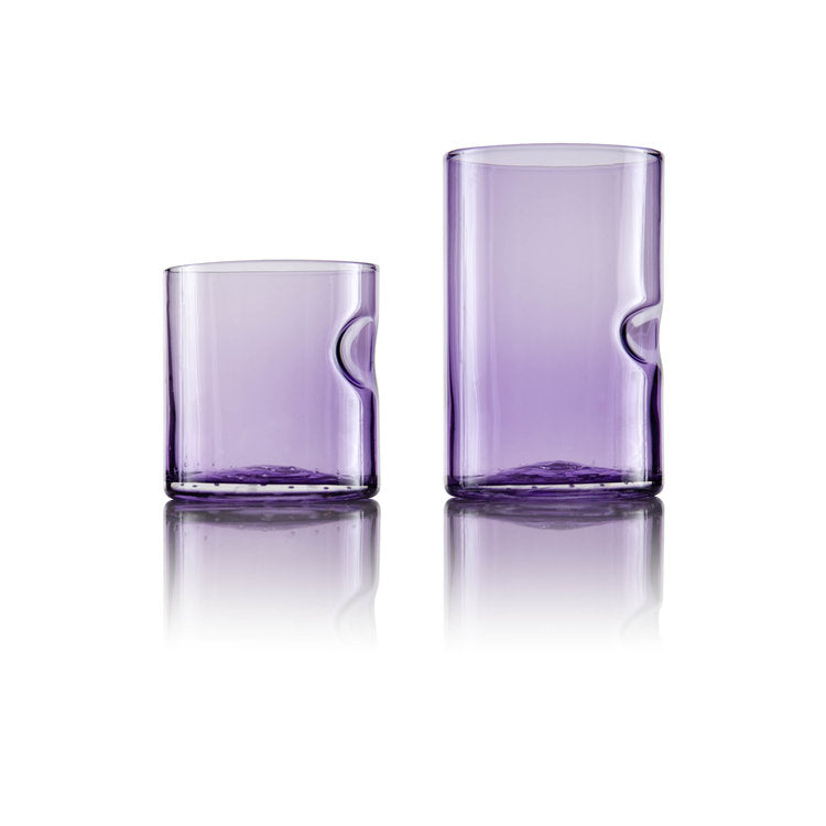 Dougherty Glassworks Borealis Series Drinking Glasses 3.5 inches, Amethyst