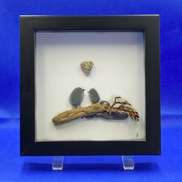 "Framed Rock Art ""Love"""