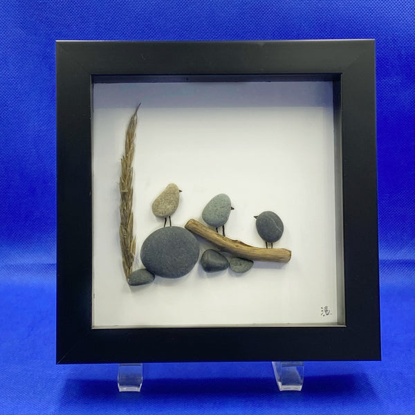 "Framed Rock Art ""Together for Fun"""
