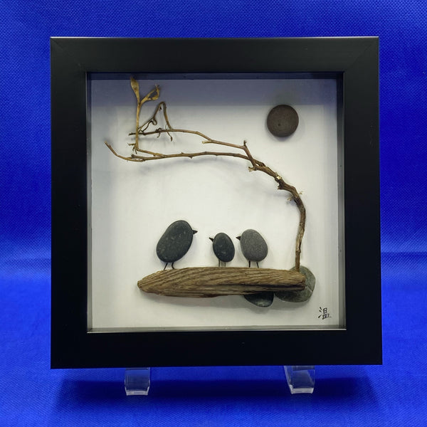"Framed Rock Art ""Under the Moon"""