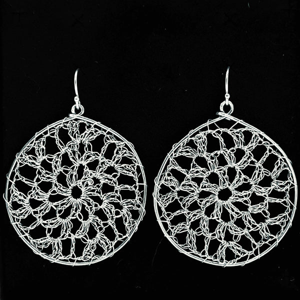 Fine Silver Lace Neo Earrings