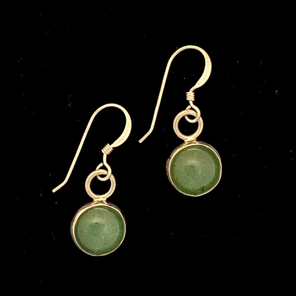 Sterling Silver Earrings with Aventurine Stone