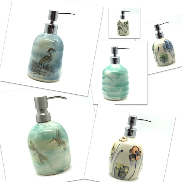 Ceramic Hand Soap Dispensers by Wendy Squirrell