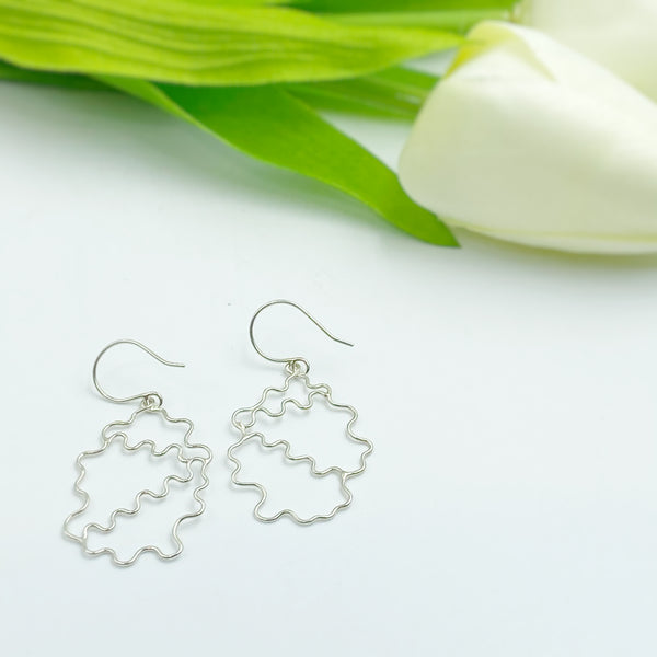"Large Sterling Silver ""Head in the Clouds"" Earrings"