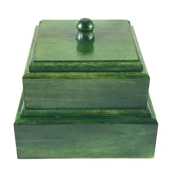 Green Stained Birch Tea Box