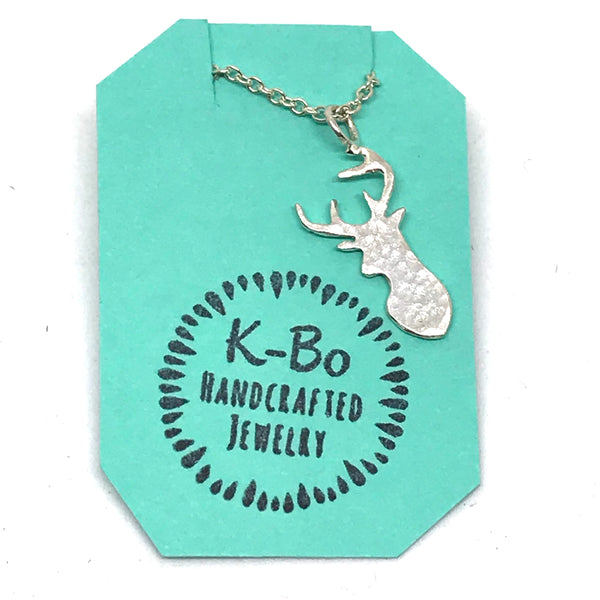 Sterling Silver with Deer pendant necklace