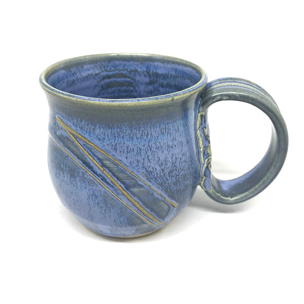 Powell River Blue round ceramic mug