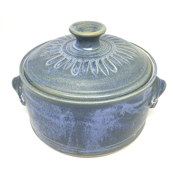 Powell River Blue large casserole