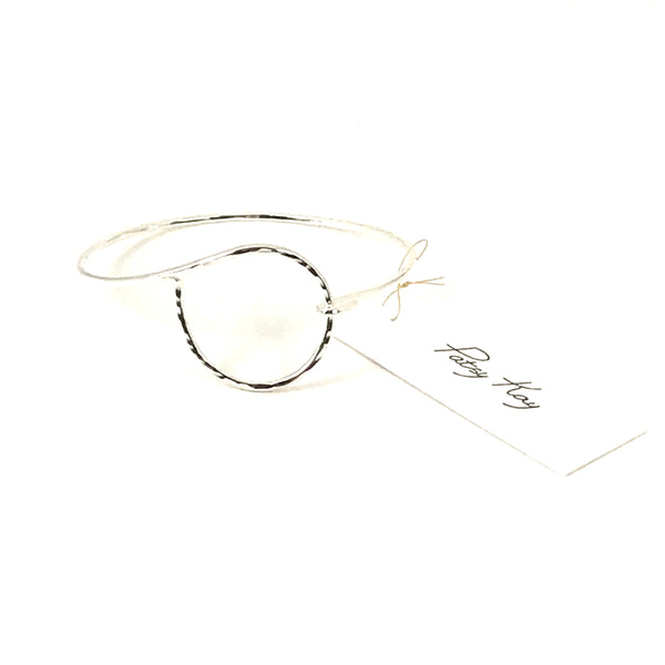 Sterling Silver Circle Divine Bracelet small