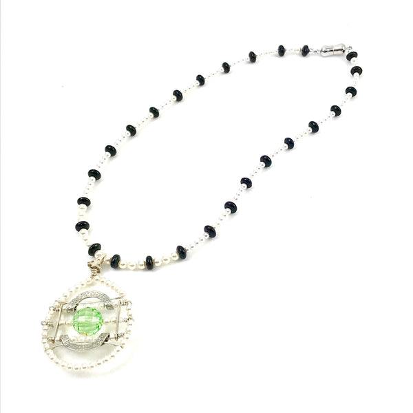Medieval Collection pendant necklace with Swarovski beads