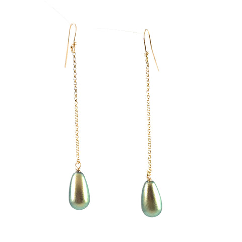Iridescent Swarovski drop earrings