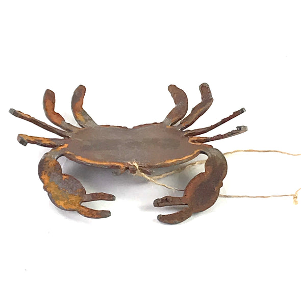 Rusted Steel hanging crab, 4 1/2 inches - Side Street Studio