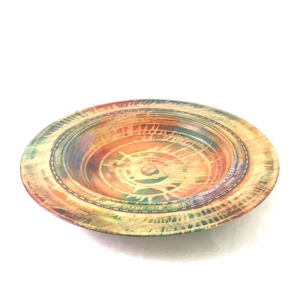 Western Maple Inlaid Platter 11 inches - Side Street Studio