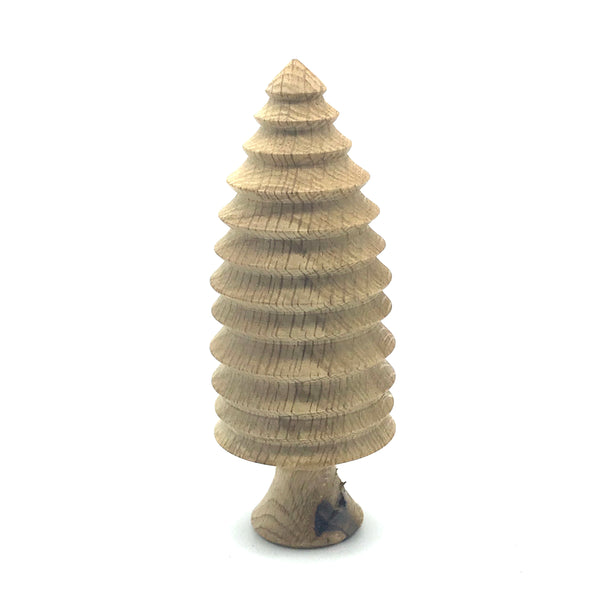 Dry Carved Small Conifers Tree 5 1/2 inches