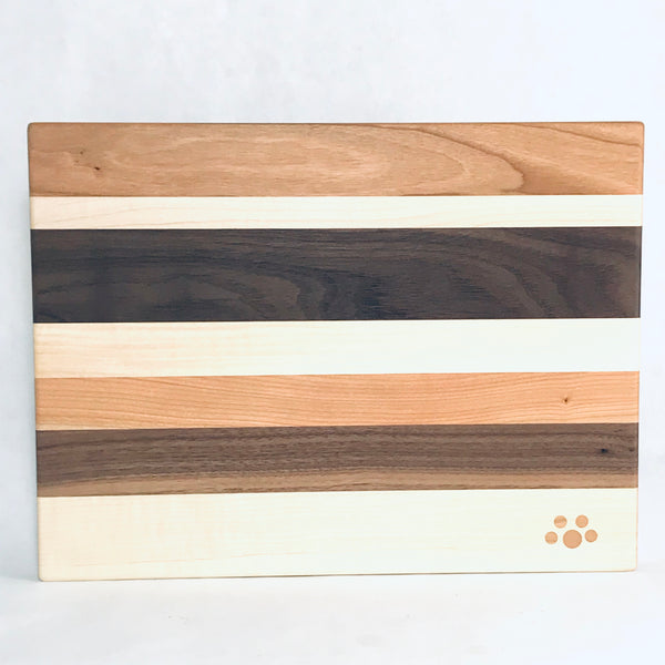 Small Chopping Board, Maple, Cherry and Walnut