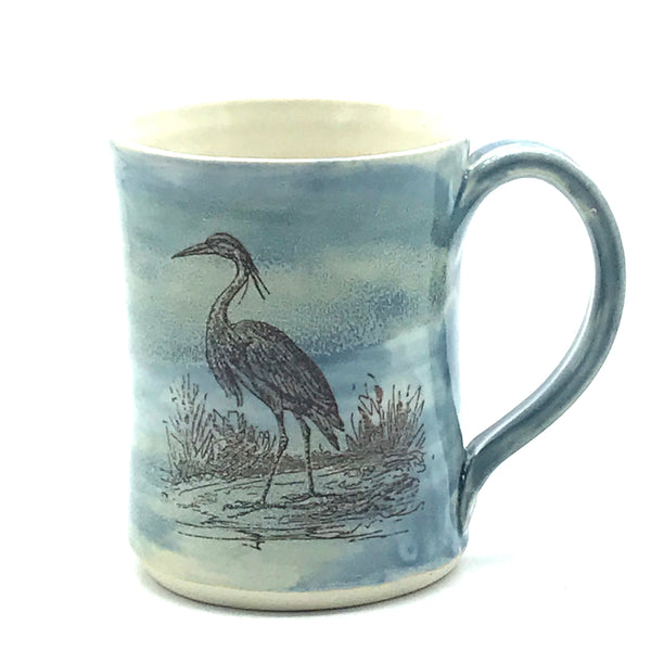Ocean and Shore Pottery Blue Mug