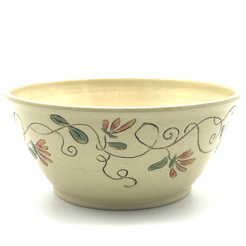 Ceramic Bowl with Honeysuckle flowers