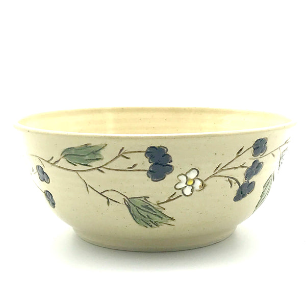Ceramic Bowl with Blackberries