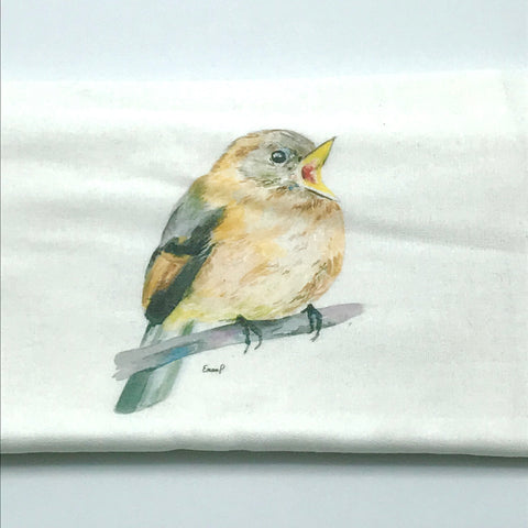 Open Mount Bird Tea Towel by Emma Pyle Art