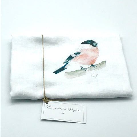 Pink Wren Tea Towels by Emma Pyle