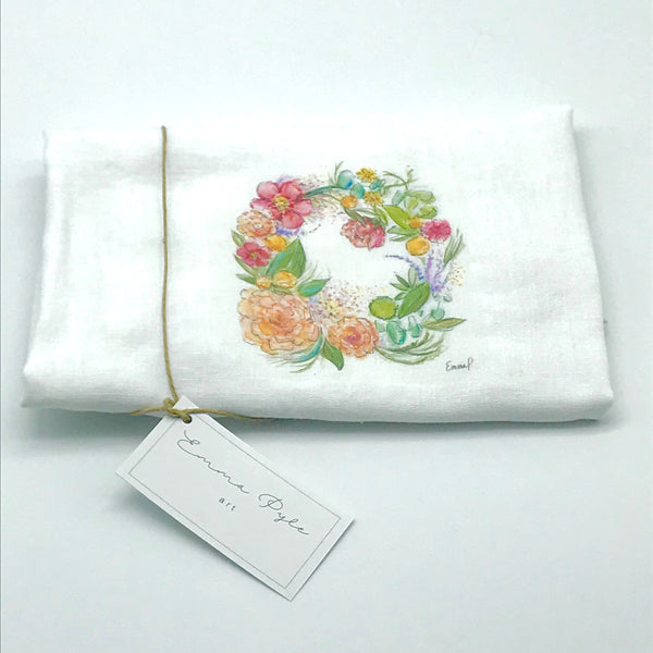 Floral Wreath Tea Towels by Emma Pyle