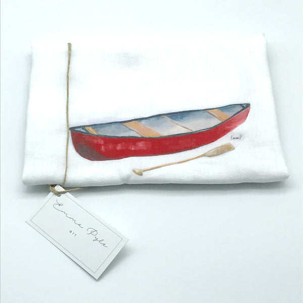 Red Canoe Tea Towels by Emma Pyle