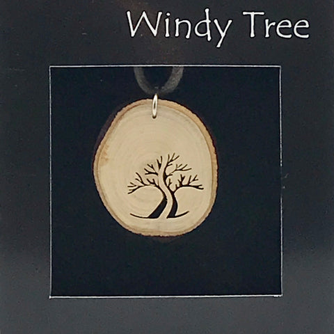 Arbutus Wood Pendant with Arbutus Tree Split