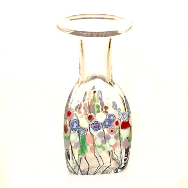Small Clear Meadow Triangle Vase -Side Street Studio