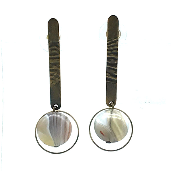 Botswana Agate Earrings - Side Street Studio