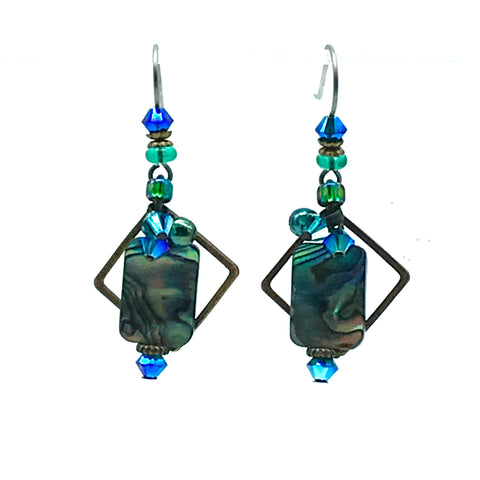 Atlantis Earrings, 1 1/2 inches