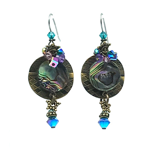 Atlantis Earrings, 2 1/4 inches - Side Street Studio