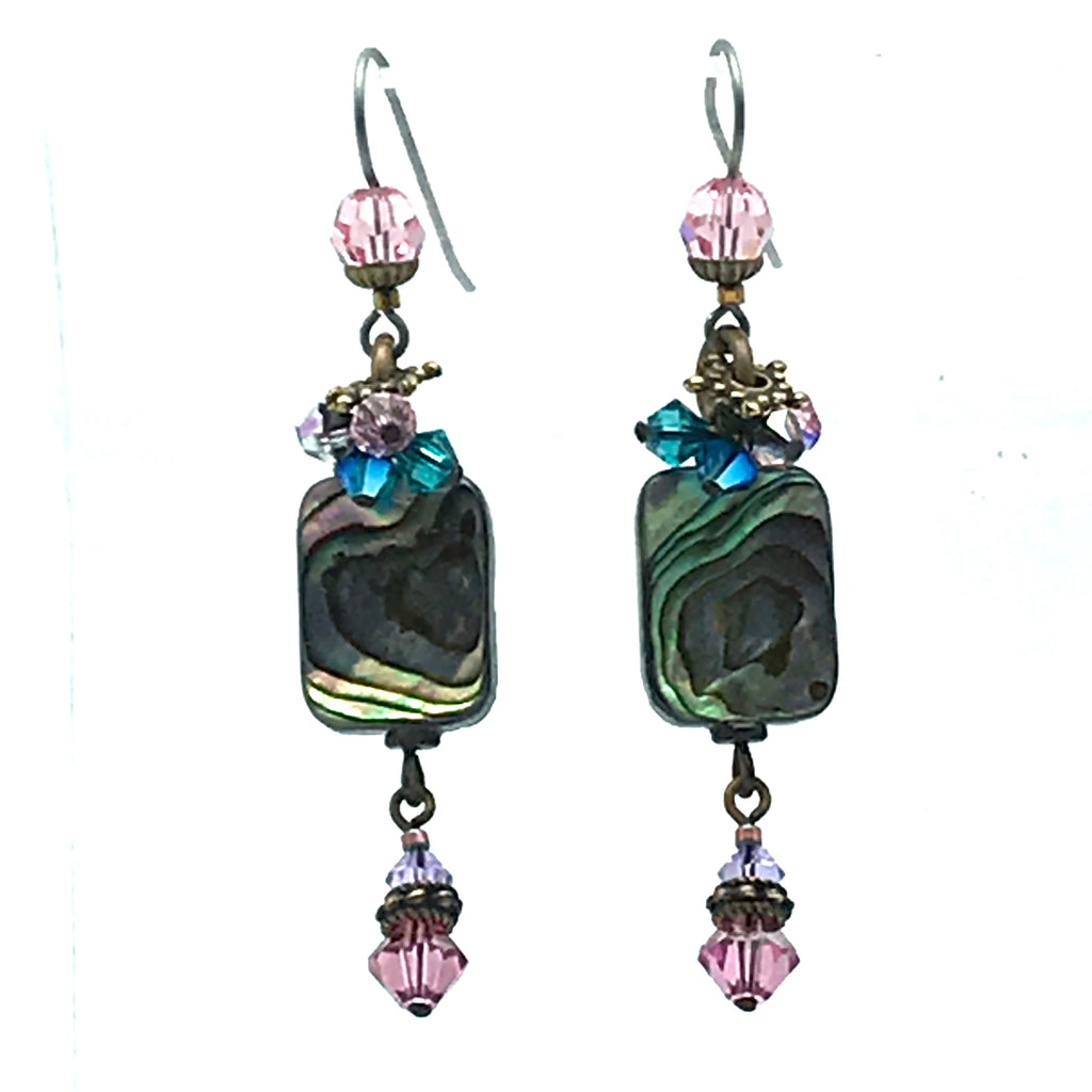 Atlantis Earrings, 2 1/2 inches - Side Street Studio