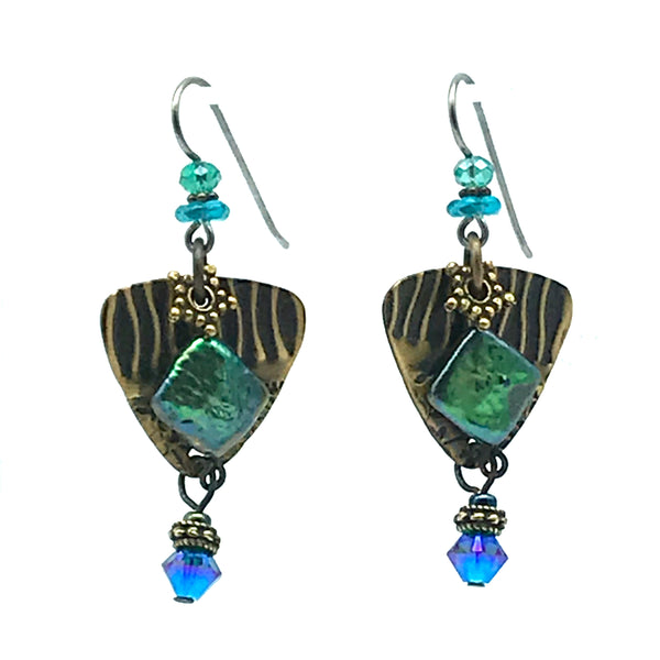 Atlantis Earrings, 2 inches - Side Street Studio