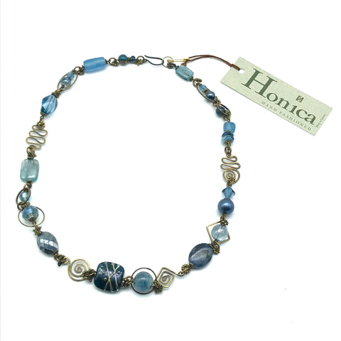 Tofino Blue Necklace, 22 inches - Side Street Studio