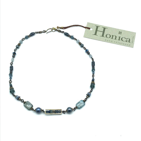 Tofino Blue Necklace, 18 inches - Side Street Studio