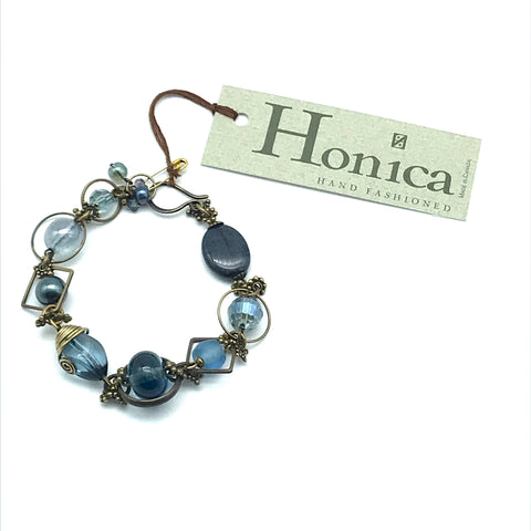 Tofino Blue Bracelet with Durmortierite - Side Street Studio