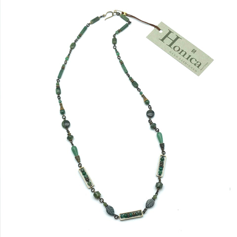 Harmony Jade Necklace, 26 inches - Side Street Studio
