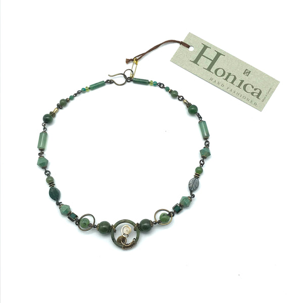Harmony Jade Necklace, 18 inches - Side Street Studio