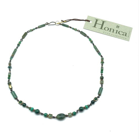 Harmony Jade Necklace, 22 inches - Side Street Studio