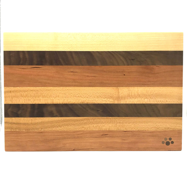 Medium Chopping Board, Maple, Cherry and Walnut 15 x 9 3/4 inches- Side Street Studio