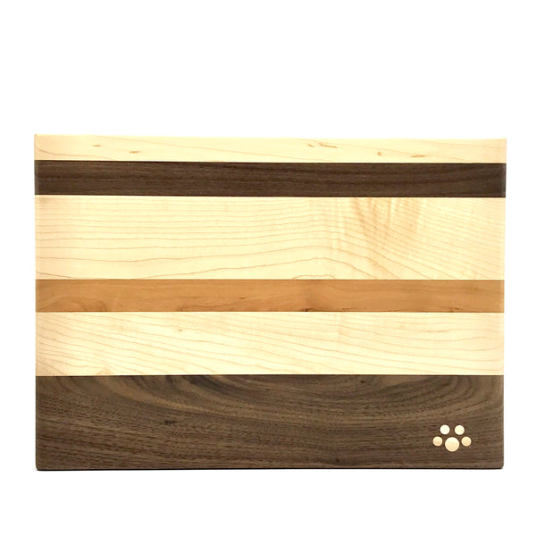 Small Chopping Board, Maple, Cherry and Walnut 12 x 9 inches - Side Street Studio