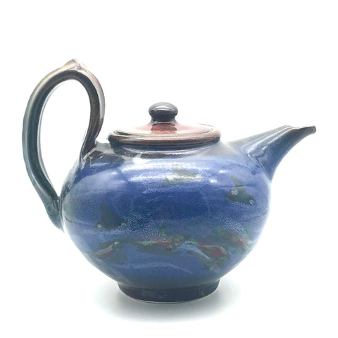Teapot with Orca and Salmon Design