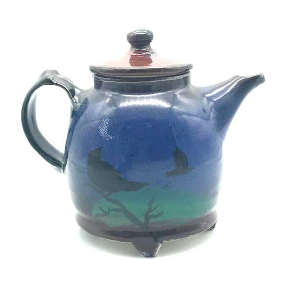 Teapot with Crow Design