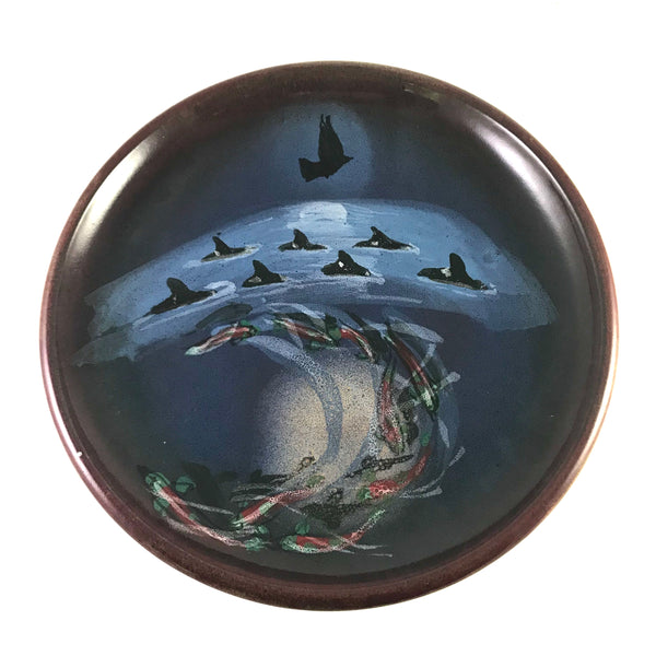Salmon, Orca and Crow Design Serving Platter