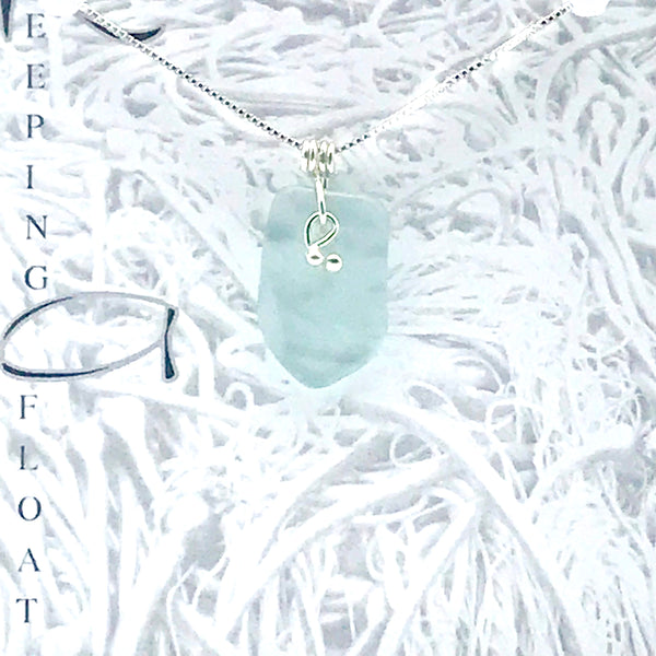 Glass fishing float Nugget Kelp Knot Drop Pendant Necklace