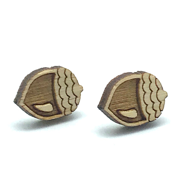 Acorn Stud Earring, Natural - Side Street Studio
